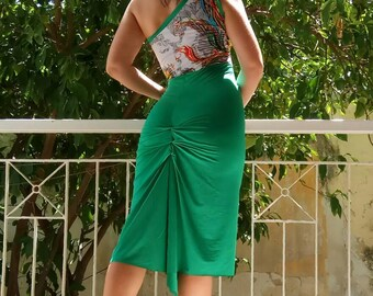 Green Dance Tango Dress