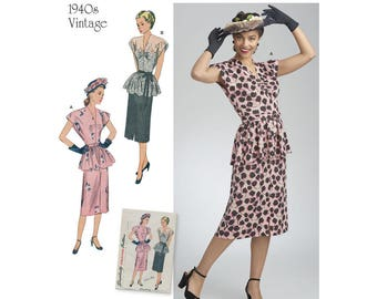Simplicity Sewing Pattern 8463 Misses' Vintage 2-Piece Dress