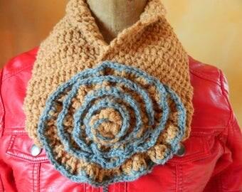 Collar, neck handmade crochet