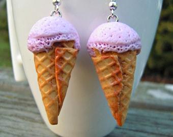 """Earrings """"Strawberry sorbet""""!"""