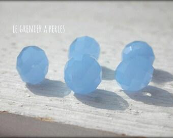 ABACUS 10 Sapphire Opal x 5 mm beads