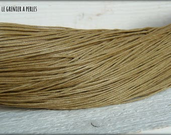 5 M Beige 1 mm waxed cotton cord