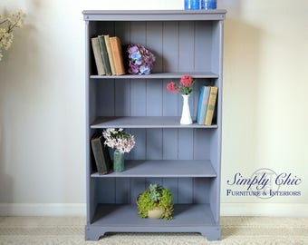 CUTE Solid Maple Bookcase in Lavender SHABBY CHIC