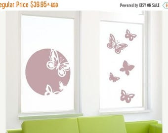 20% OFF Summer Sale Spring Butterflies glass window wall decal, sticker, mural, vinyl wall art