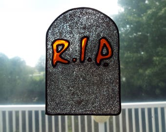 halloween, halloween rip, headstone, faux headstone, rip, holiday rip, halloween headstone,silver rip, orange rip