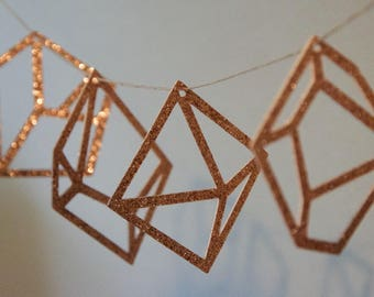 Various geometric shapes hanging decorations