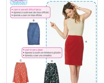 McCall's Pattern M7631 Misses' Skirts in Three Lengths
