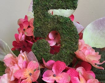 Wedding Table Numbers,Moss Covered Numbers,Personalized Table Numbers,Wedding Centerpiece Number,Moss Wedding Decor,Rustic Wedding