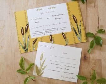 Rustling Reeds Invitation Set
