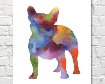 French Bulldog - Abstract Watercolor Painting - Wall Decor