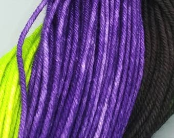 Maleficent {Variegated} Worsted Weight Yarn- Hand Dyed Yarn - 212 Yards - 120 Grams