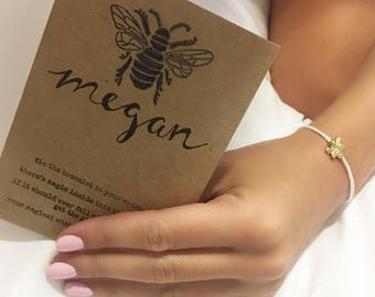 Bee Magical Wish Bracelets (Your Name) Personalized