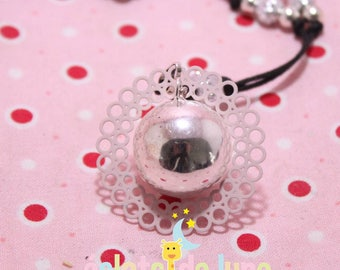 Bola pregnancy bola Xylophone with rosette ring grey brushed Bulan
