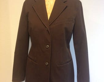 EMANUEL LIBERTÉ  Emanuel Ungaro 3 Button Brown Blazer 6 / 40 Menswear Inspired! Made in Hong Kong