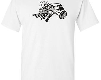 US Army Military Tank Ready to Strike Men's White T shirt