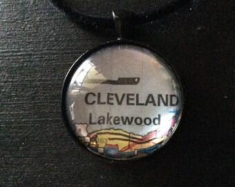 Cleveland Ohio Pendant Necklace