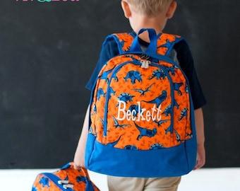PRE-SCHOOL Dino-mite Monogramed Backpack