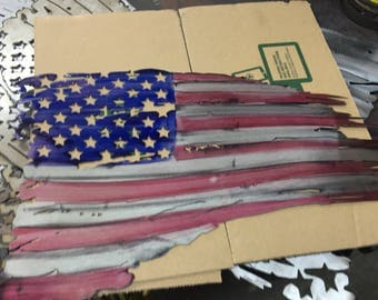 """Unfinished flags, these are not painted this is a stock photo 14/24"""""""