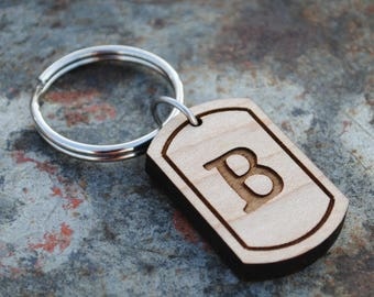 Letter B Initial Keychain