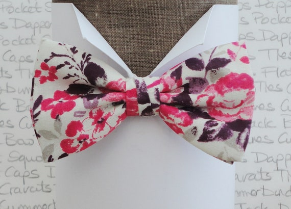 Floral Bow Tie, bow ties for men, wedding bow tie