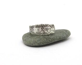 spoon ring, scandinavia ring, narrow ring, light ring