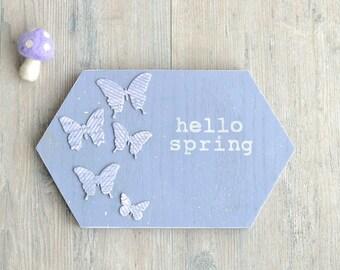 Lavender Wood Spring Sign.