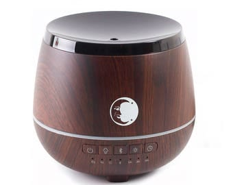 Mystic Moments | Aromatherapy Oil Ultrasonic Diffuser With Bluetooth Speaker & LED Lights - Wooden