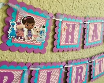 Doc McStuffins Birthday Banner, Doc McStuffins Birthday, Doc McStuffins Birthday Party, Doc McStuffins Birthday Shirt