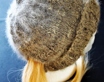 Ponytail wolf fur hat