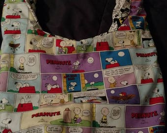 Hobo bag, peanut, Snoopy, gift for her and gift for him, overnight bag, crossbody, birthday gift, comics