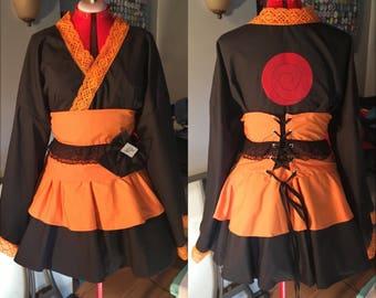 Naruto Cosplay Kimono Dress