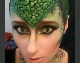 reptile scales . crocodile . snake . latex prosthetic . Halloween . fancy dress .