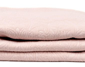 "THROW bed 240 x 260 fabric damask ""ROSE"""
