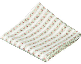 "Pretty Plaid 150 x 150 damask fabric ""Wild rose green"""