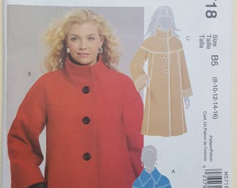 McCall's Jacket Coat Pattern Sizes 8-16  #M5718