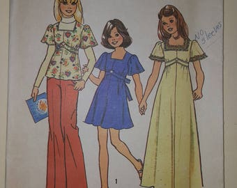 Simplicity Pattern for a Child Size 7 or 10  #6867