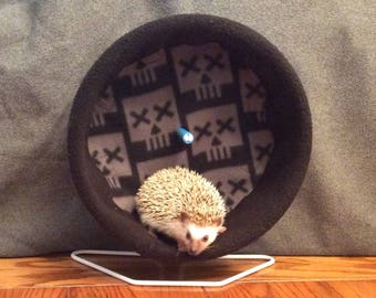 Wheel Cover, Black Skulls, with Waterproof back, for Hedgehogs, Rats, and other Small Animals