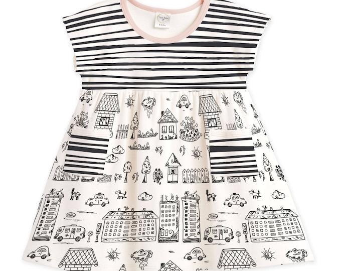 Baby Girl Dress, Newborn Girl Summer Dress, Infant Girl Dress, Newborn Girl Sleeveless Dress, Baby Pink Dress, Black, TesaBabe