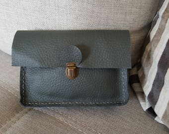 Grey leather with loop for Belt pouch