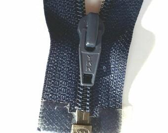Dark blue nylon 5 vintage zipper divisible size 5 (YKK 058) zipper Cremallera cipzár молния, cerniera, fermeture à glissière רוכסן