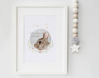 A4 & A3 Rabbit Illustration Print - Lepus