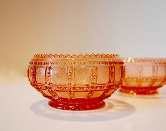 Imperial Glass Lily Bowl...Beaded Block...Opalescent Glass...Depression Glass...