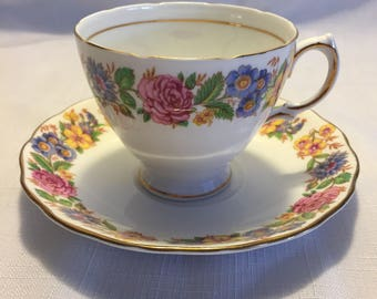 Vintage Royal Vale Teacup and Saucer