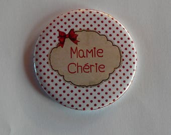 Granny love Magnet / Pocket mirror / Badge pin gift Grandma grandmother.