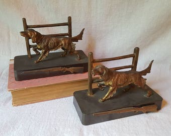 Antique Brass Bookends, 1920's