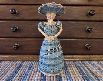 Vintage Wicker Doll