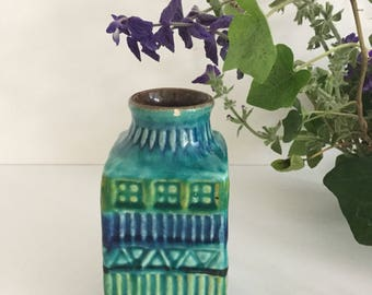 Bright coloured vase by Bay-Bodo Mans (west Germany)
