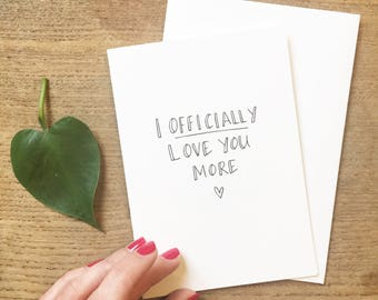 Typographic Anniversary - I officially love you more