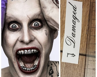Joker suicide squad face temporary tattoo J Damaged movie