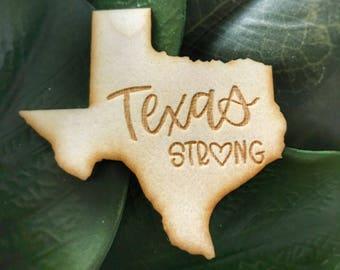 Texas Strong Wooden Magnet // Hurricane Harvey Relief // Texas Strong // Houston Strong // Hurricane Harvey